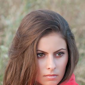 Ana by Bogdan Negoita - People Portraits of Women ( girl, woman, portrait, women, lady, red, World_is_RED,  )