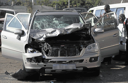 The silver Mercedes-Benz ML500 rammed into a group of runners, killing five. File photo.