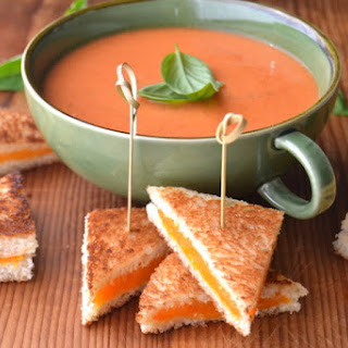 Mini Grilled Cheese with Tomato Soup Dip.