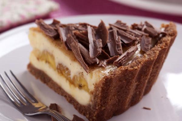 Torta Gelada de Banana Chocolate e Coco