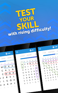 UpWord Search - Scrolling Word Search Puzzle Game Screenshot