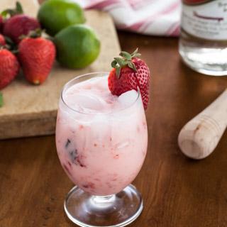 Strawberries and Cream Caipirinha Cocktail