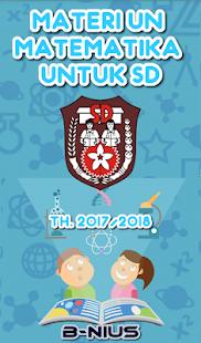 Materi UN Matematika SD TA 2017/2018 - náhled
