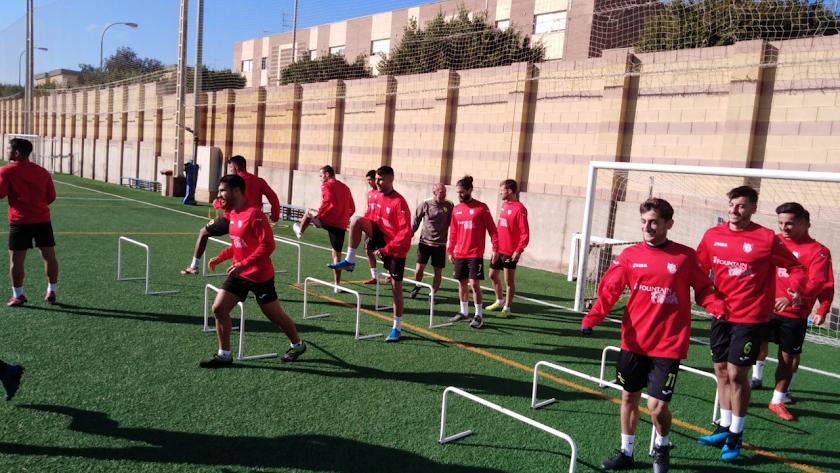 Los jugadores del CD El Ejido disfrutan de su mejor racha.