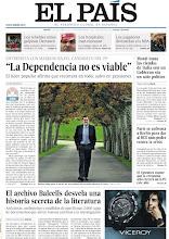 """Photo: """"La Dependencia no es viable"""", ha dicho Mariano Rajoy en una entrevista con EL PAÍS, en la que también ha explicado que recortará en todo menos pensiones http://www.elpais.com/static/misc/portada20111117.pdf"""