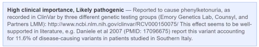 GenVue highlights particularly important findings.