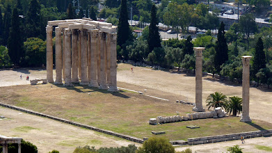 Photo: View from Acropolis: Temple of Zeus
