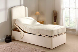 Single Memory Adjustable Bed in a bedroom