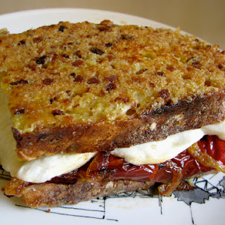 Grilled Mozzarella Cheese and Red Pepper Sandwiches, Two Ways