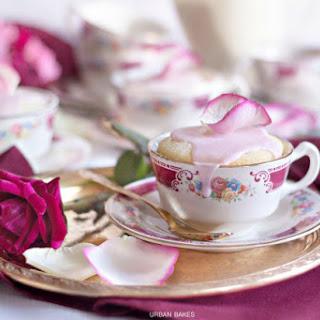 Rose Water Mug Cakes.