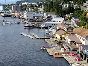 Photo: Lots of seaplanes here in Ketchikan keep the waterfront noisy and busy.