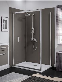 Porte coulissante avec paroi latérale, 120 x 80 cm ou 120 x 90 cm