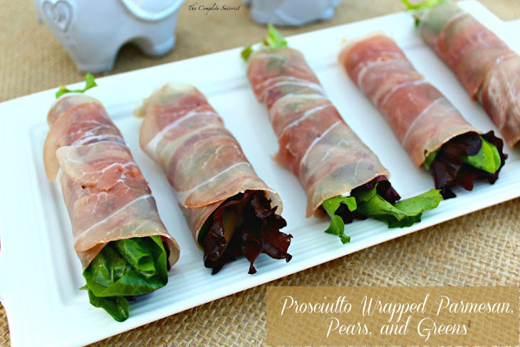 Prosciutto Wrapped Parmesan, Pears, and Greens Recipe | Yummly