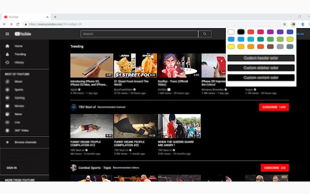 Color Changer for YouTube