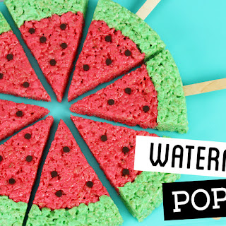 Watermelon Rice Krispie Treat Pops