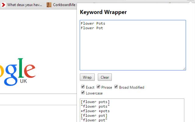 PPC Keyword Wrapper for Google & Bing Ads
