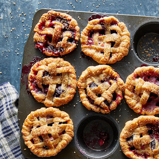 Pear-Blueberry Mini Pies With Lattice Crust