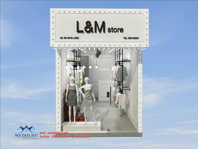 thiết kế shop thời trang L&M 1
