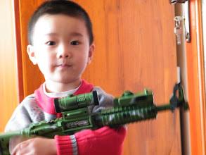 Photo: look, my toy gun.