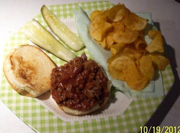 Zapped,sloppy Joeson A Grilled Bun Recipe