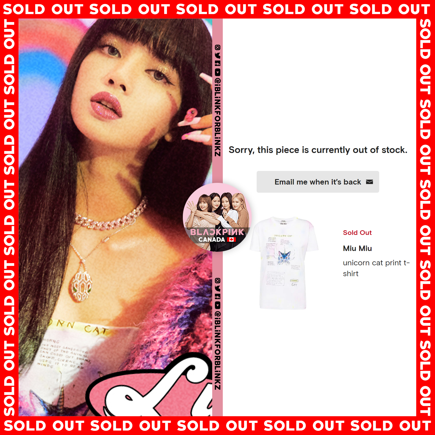 blackpink lisa sold out ice cream 1