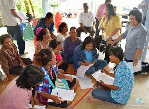 Photo: Happy discussion, TOT4 , Tha Tum , Surin