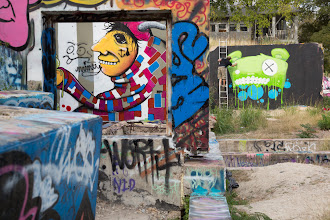 Photo: Artist at Work  Hope Outdoor Gallery / Foundation Graffiti in Austin, Texas  #streetartsunday curated by +Luís Pedro+Mark Seymour  #Austin