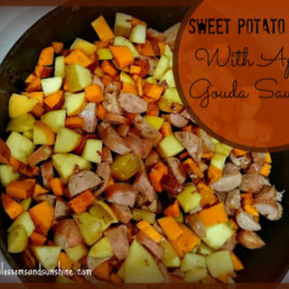 Sweet Potato Hash with Apple Gouda Sausage