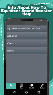 Equalizer Sound Booster Help - náhled