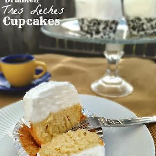 Drunken Tres Leche Cupcakes