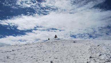 Photo: pero hay un poco de nieve arriba