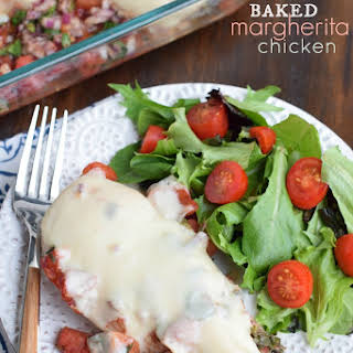 Baked Margherita Chicken.