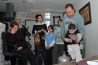 Photo: The Haj family barricaded in their home in Jaffa