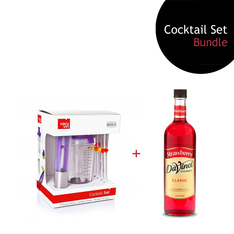 [Bundle] Cocktail Set + Strawberry Syrup by ECIATTO GROUP SDN BHD
