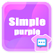 Next SMS Simple purple skin - Androidアプリ