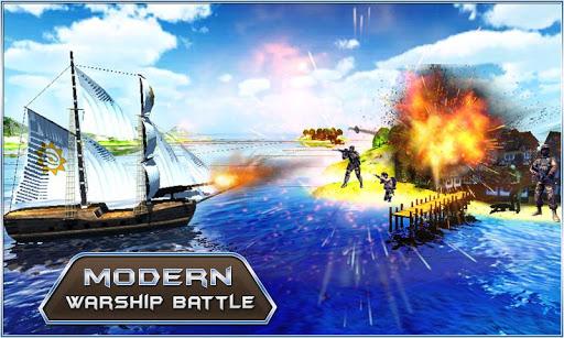 現代の軍艦の戦い