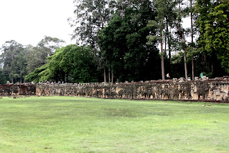 Photo: Year 2 Day 44 -  The Huge Size of The Elephant Terrace (With Elephant Reliefs All Along the Wall)
