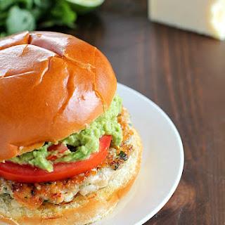 Easy Chicken Burgers with Guacamole.