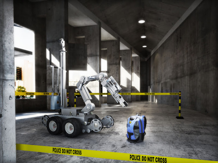 File photo of a bomb squad robot. A 23-storey building in central Durban has been evacuated following a bomb scare on 12 July, 2019.