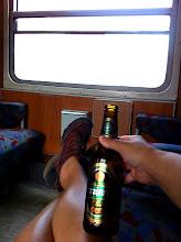 Photo: Train ride from Zagreb, Croatia to Sarajevo.  Sarajevo brewski!