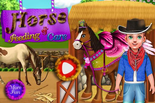 女の子のための馬の給餌ゲーム