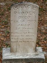 """Photo: Isaac E Rhoden son of Isham J Rhoden and Ann Ellen """"Amy"""" Cathcart / Husband of Rosa Mae Rhoden"""