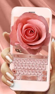 Keyboard Theme For Rose Gold OS 11 - náhled