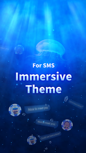Messenger for SMS 2019 - 3D Ocean Theme&SMS Lock 1.2.0 app download 1