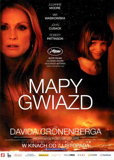 Przód ulotki filmu 'Mapy Gwiazd'
