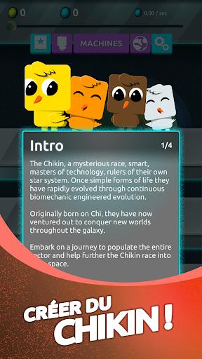 Télécharger Chikin: Universe - Jeu Space Idle Planet mod apk screenshots 4