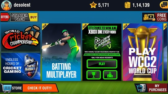 World Cricket Championship 2 MOD Apk (Unlimited Coins) 4