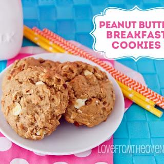 Peanut Butter, Banana & White Chocolate Breakfast Cookies