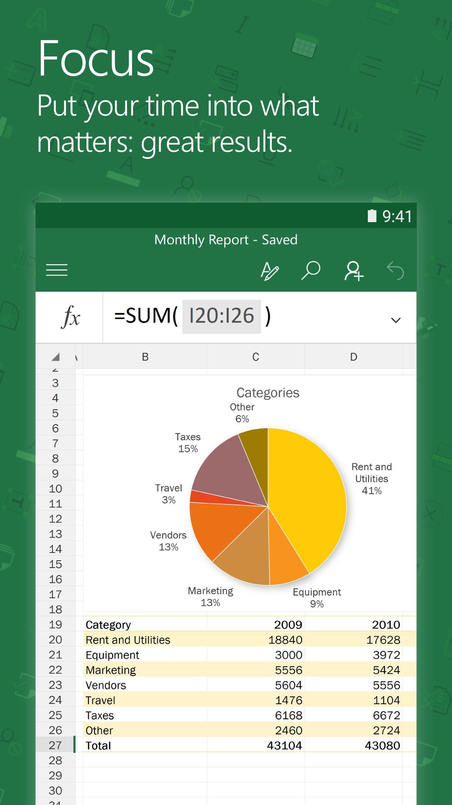 Microsoft Excel screenshot #3