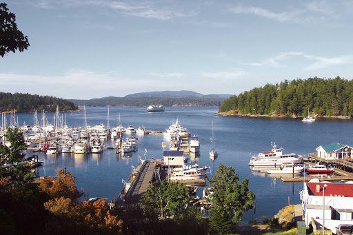 Friday-Harbor.jpg - Picturesque Friday Harbor in the Pacific Northwest's San Juan Islands has been used as a setting for books, movies and games.